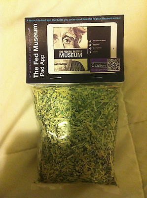 Federal Reserve Bank of Chicago Shredded Paper Money Currency - No Value