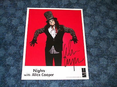 Alice Cooper Signed A4 Photo Card Music Autograph Christmas Present
