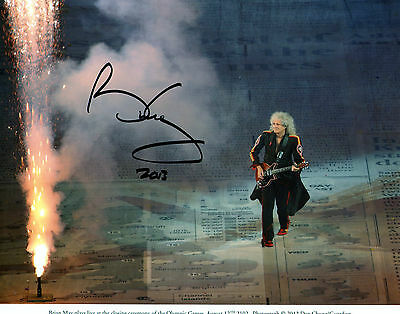 Brian May Signed Photo A4 Size Music Autograph Christmas Present
