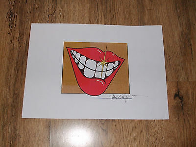 Smile Logo Printed on A4 Piece Of Paper Signed by Tim Stafell Queen