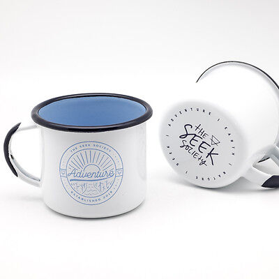 New  Enamel Adventure Mug Pair