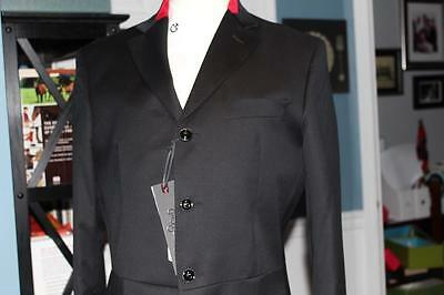 CAVALLERIA TOSCANA Mens BLACK Competition JACKET Show COAT Italy 46 NEW