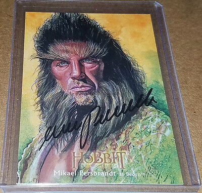 Hobbit Desolation of Smaug MIKAEL PERSBRANDT as Beorn Illustrated auto /25 RARE!