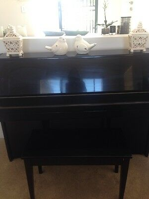 Royale Upright Piano ( Black ) With Matching Stool