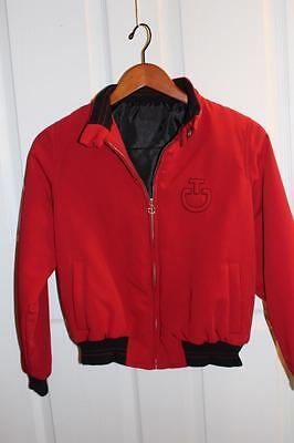 CAVALLERIA TOSCANA Child/Kids/Youth Equestrian TEAM Logo RED BOMBER JACKET 10