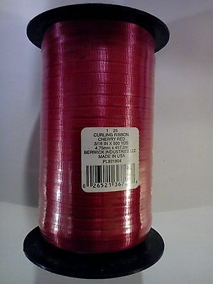 Berwick Curling Ribbon Cheery Red 3/16 in x 500 yards