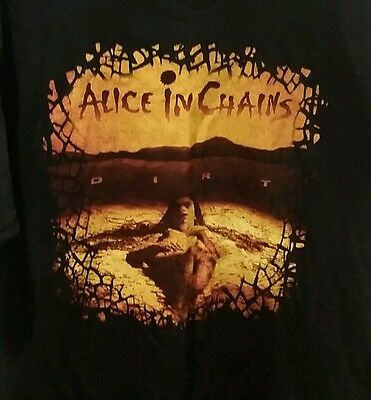 ALICE IN CHAINS Official Dirt Shirt Size XL Layne Staley Jerry Cantrell AIC