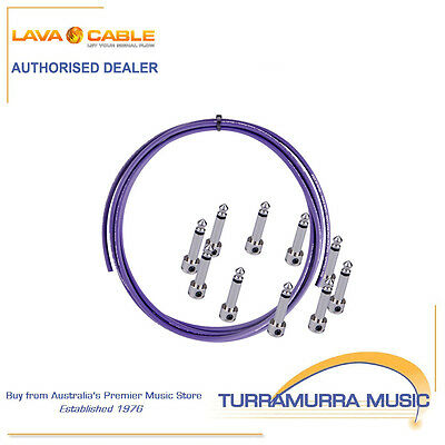 Lava Cable Piston High End Pedalboard Patch Lead Kit DIY Solder Free with Plugs