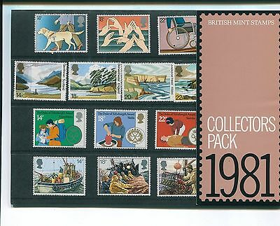 1981 British Mint Stamp Collectors Pack