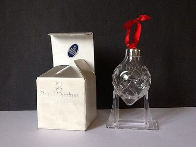ROYAL DOULTON FINEST CRYSTAL 1992 TEARDROP ORNAMENT New in Box