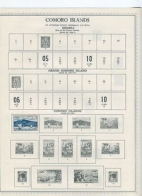 Comoro Islands Stamp Collection - 1950s to 1960s