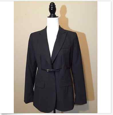 A Pea In The Pod Classic Suiting Maternity Jacket w/ Belt Gray Small NEW