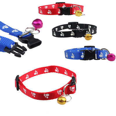 32cm Adjustable Collar Pet Dog Cat Puppy Neck Nylon Harness with Bell
