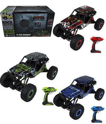 HUGE 1/10 Monster Truck Rock Crawler Remote Control 2.4G RC Fast Car Toy Grn
