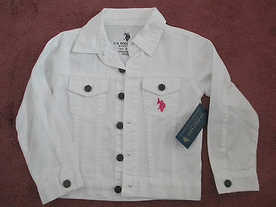 Brand new light weight white denim jacket from US Polo Assn - size 5 years