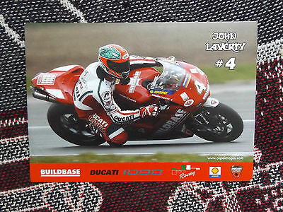Rider Info Photo Card - John Laverty - Buildbase Ducati 1098