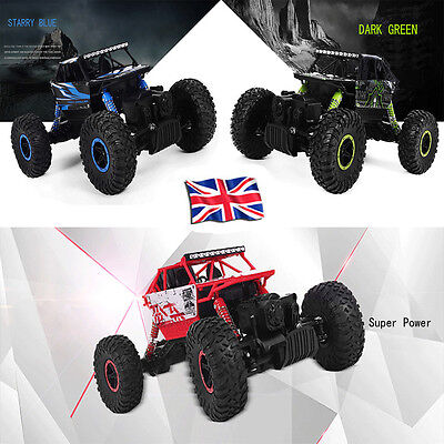 Off Road 4WD Remote Control 1/18 Scale 2.4G Rock Crawler Radio RC RTR Car Toy UK