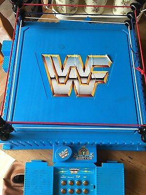 WWF wrestling figures and wrestling ring 1990's