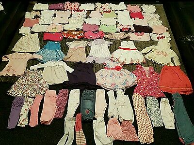 Baby Girls 3-6 Months clothes Bundle 75 items 1