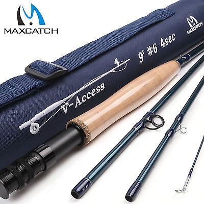 Maxcatch 6WT 9FT 4Sec Fast Action Graphite(IM10) Fly Fishing Rod & Rod Tube