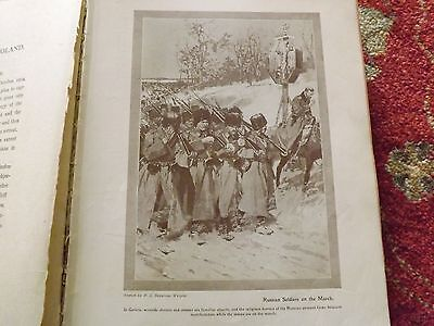 Ww1 War Record Illustration 1914-1918 Russian Soldiers On The March