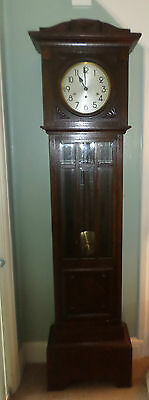 Oak grandfather long case clock Nr Croydon Surrey