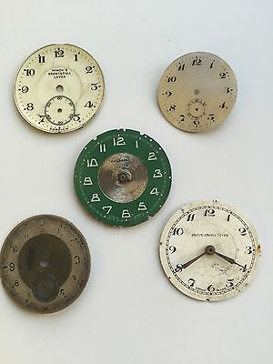 Vintage Watch Dials For Repair Or Spares
