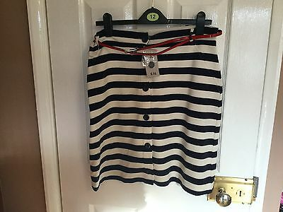 ladies blue and white striped skirt size 14