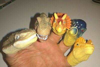 DINOSAUR finger puppets: hand not included #ch36