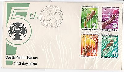 1975 first day cover FDC FDI postal Papua New Guinea South Pacific  games