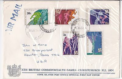 1970 Commonwealth Games  Malawi FDC first day cover FDI envelope