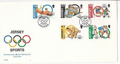 1994 Jersey  first day cover FDI envelope postal International olympic committee