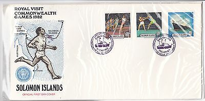 1982 Commonwealth Games Solomon Islands  FDC first day cover FDI envelope