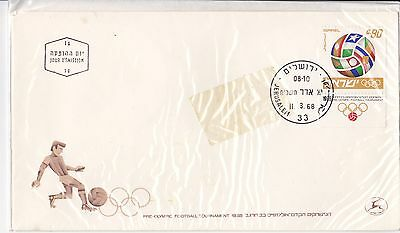 1968 Israel Pre Olympic football tournament  FDC first day cover FDI envelope