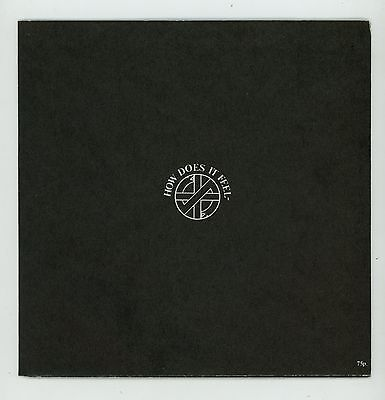 """Punk UK : CRASS : How Does It Feel ? 7"""" UK 1982 poster sleeve"""