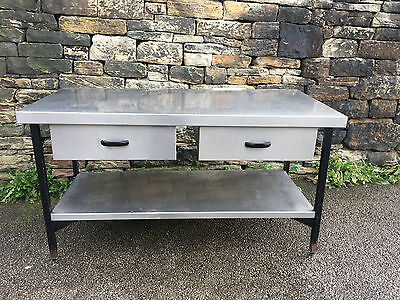 Stainless Steel Food Prep Table With 2 Draws Direct From Liquidators