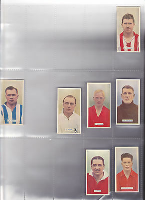 7 Carreras cigarette cards Famous footballers from series of 48 Alex James