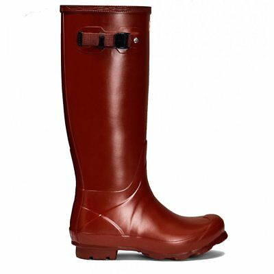 Hunter Women's Norris Field Wellington Boots Burnt Sienna Size 5