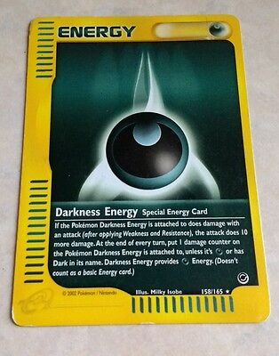 pokemon card Darkness special energy 158/165 rare