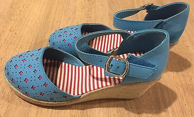 Girl Blue Wedge Shoes Size 2 *worn twice*