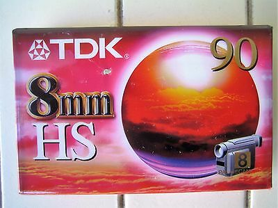 TDK 9mm HS 90 Camcorder Tapes Brand New & Sealed
