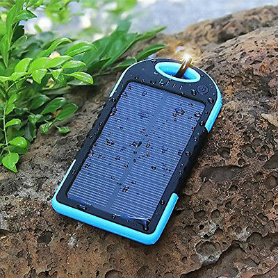 5000mAh Solar Power Bank 2 USB Portable Charger Waterproof for iPhone Samsung-1