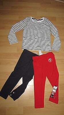 BNWT NEXT Girls Size 4-5 Years (110cm) 2 X Leggings &Top Outfit