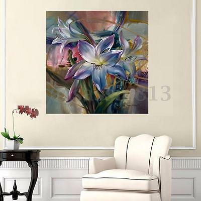 DIY Acrylic Paint By Number Kit Beauty Purple Lily Home Wall Decor Painting HOT