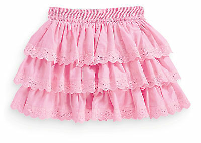 Next Girls 2-3 Years Pink Ra Ra Broderie Lace Cotton Lined Skirt *