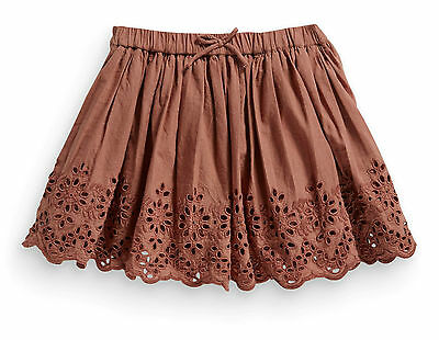 Next Girls 2-3 Years Rust Broderie Cotton Lace Skirt *