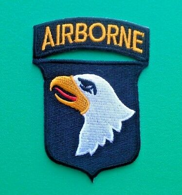 NOVELTY MILITARY U.S. FORCES SEW ON / IRON ON PATCH:- AIRBORNE (b) 82nd 101st