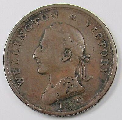 WELLINGTON & VICTORY IRISH PENNY TOKEN dated 1816 (Minted to commemorate 1814)