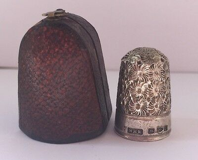 Antique Silver Cased Thimble (No Holes) Chester 1890