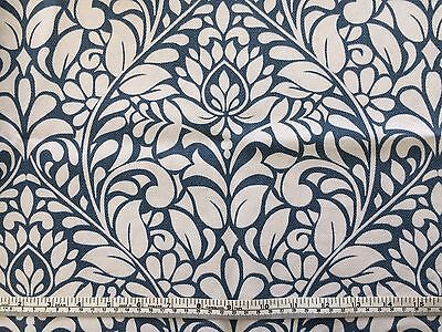 """Cotton furnishing fabric teal blue 57"""" wide small piece"""